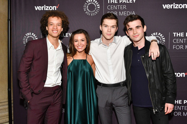 2018 The Paley Honors [event,premiere,suit,formal wear,smile,damon j. gillespie,ted sutherland,casey johnson,paley honors,l-r,new york city,cipriani wall street,grace aki]