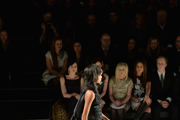 Cassandra De Vos Front Row at the Pamella Roland Show