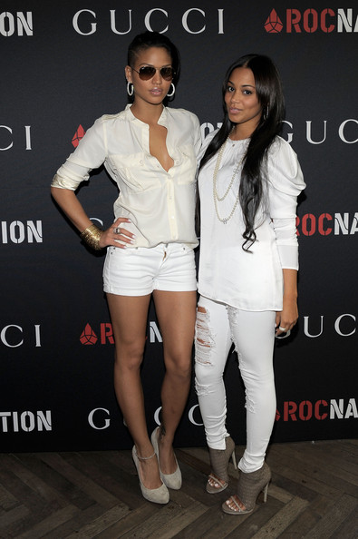 Cassie Singer Cassie (L) and actress Lauren London arrive at the Gucci and RocNation Pre-GRAMMY brunch held at Soho House on February 12, 2011 in West Hollywood, California.