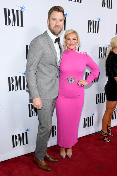 66th Annual BMI Country Awards - Arrivals [red carpet,carpet,premiere,pink,event,fashion,flooring,dress,suit,style,arrivals,charles kelley,cassie mcconnell,bmi country awards,bmi nashville,tennessee]