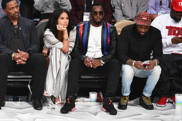 Cassie Celebrities At The 67th NBA All-Star Game: Team LeBron Vs. Team Stephen