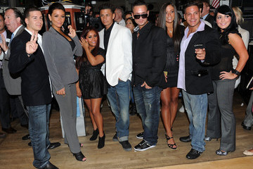 """Paul DelVecchio Angelina Pivarnick Cast Of """"Jersey Shore"""" Rings The NYSE Opening Bell - July 27, 2010"""