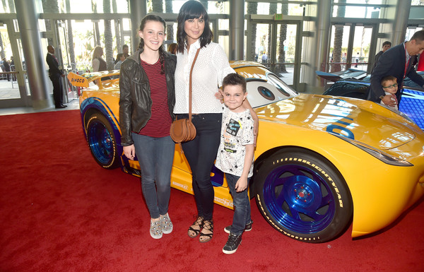 Catherine Bell with her kids at World Premiere of Disney