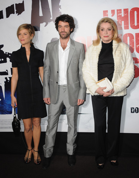 'L'homme Qui Voulait Vivre Sa Vie' [qui voulait vivre sa vie,suit,event,premiere,fashion,outerwear,formal wear,performance,white-collar worker,tuxedo,fashion design,homme,lhomme qui voulait vivre sa vie,romain duris,marina fois,l-r,premiere,paris,france,cinema gaumont marignan]