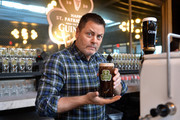 Actor Nick Offerman celebrates the countdown to St. Patrick's Day with Guinness on February 28, 2020 in New York City.