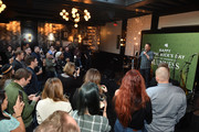 Actor Nick Offerman gives a toast to kick off the countdown to St. Patrick's Day with Guinness on February 28, 2020 in New York City.