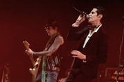 Musician Earl Slick (L) and singer Perry Farrell perform at Celebrating David Bowie at the Wiltern Theatre on January 24, 2017 in Los Angeles, California.