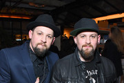 Recording artists Joel Madden (L) and Benji Madden of Good Charlotte at a celebration of music with Republic Records, in partnership with Absolut and Pryma, at Catch LA on February 12, 2017 in West Hollywood, California.