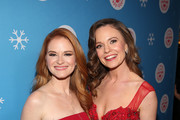 "Sarah Drew and Rachel Boston attend the VIP opening night of the life-sized gingerbread house in celebration of ""It's A Wonderful Lifetime"" at The Grove on November 14, 2018 in Los Angeles, California."