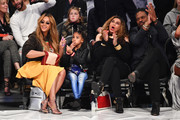 Beyonce, Blue Ivy Carter, Tina Knowles and Richard Lawson attend The 67th NBA All-Star Game: Team LeBron Vs. Team Stephen at Staples Center on February 18, 2018 in Los Angeles, California.