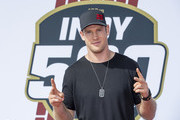 Ryan Tannehill is seen at the Indianapolis Motor Speedway on May 26, 2019 in Indianapolis, Indiana.