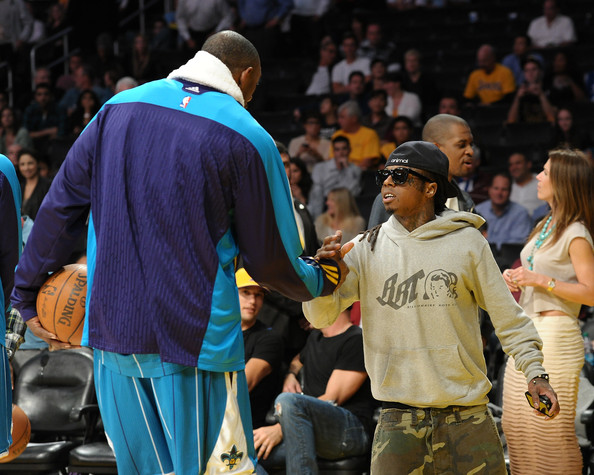 Lil Wayne Games For Ps3 : Celebrities at the lakers game zimbio
