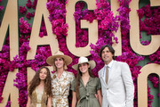 (L-R) Josefina Becco, Delfina Blaquier, Aurora Figueras and Nacho Figueras attend the Moet Marquee Magic Millions Raceday at the Gold Coast Turf Club on January 11, 2020 in Gold Coast, Australia.