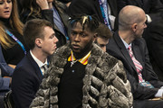Antonio Brown attends the 68th NBA All-Star Game  on February 17, 2019 in Charlotte, North Carolina.