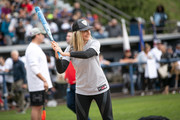 """Mira Sorvino attends a charity softball game to benefit """"California Strong"""" at Pepperdine University on January 13, 2019 in Malibu, California."""