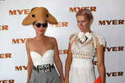 Heidi Middleton and Sarah-Jane Clarke attend the Myer marquee on Derby Day at Flemington Racecourse on November 3, 2012 in Melbourne, Australia.