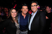 (L-R) EVP Development & Programming Lauren Gellert, TV personality David Tutera, and President/General Manager, WE tv Marc Juris attend the WE tv's LA Hair Season 4 Premiere Party at Avalon on July 14, 2015 in Hollywood, California.
