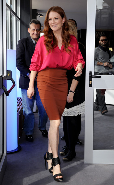 Julianne Moore attends the Lancia Cafe during the 5th Rome International Film Festival on November 2, 2010 in Rome, Italy.