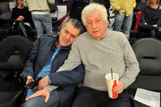 Haim Saban (L) and Avi Lerner attend a basketball game between the Los Angeles Lakers and the Oklahoma City Thunder at Staples Center on January 3, 2018 in Los Angeles, California.