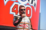 Austin Dillon attends the Monster Energy NASCAR Cup Series race at Auto Club Speedway at Auto Club Speedway on March 17, 2019 in Fontana, California.