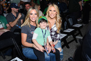 Teddi Mellencamp, Cruz Arroyave and Gretchen Rossi attend the Monster Energy NASCAR Cup Series race at Auto Club Speedway at Auto Club Speedway on March 17, 2019 in Fontana, California.