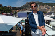 Louis Tomlinson poses for photographs at the Red Bull Racing Energy Station at Monte Carlo on May 28, 2016 in Monaco.