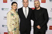 Alia Shawkat, Jorge Valencia and Gus Kenworthy attend Celebrities Support LGBTQ Education at Point Honors Gala New York at The Plaza Hotel on April 08, 2019 in New York City.