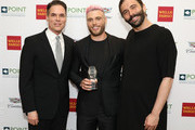 Jorge Valencia, Gus Kenworthy and Jonathan Van Ness attend Celebrities Support LGBTQ Education at Point Honors Gala New York at The Plaza Hotel on April 08, 2019 in New York City.