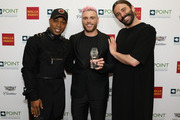 Todrick Hall, Gus Kenworthy and Jonathan Van Ness attend Celebrities Support LGBTQ Education at Point Honors Gala New York at The Plaza Hotel on April 08, 2019 in New York City.