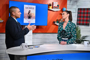 """(EXCLUSIVE COVERAGE) Zach Stafford and Paula Patton on BuzzFeed's """"AM To DM"""" December 17, 2019 in New York City."""