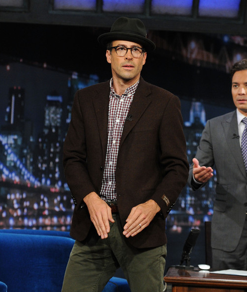 "Actor Jason Lee dances onstage during his visit on ""Late Night With Jimmy Fallon"" at Rockefeller Center on June 10, 2011 in New York City."