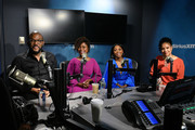 (EXCLUSIVE COVERAGE) (L-R) Tyler Perry, Crystal R. Fox, Bresha Webb, and Phylicia Rashad visit SiriusXM Studios on January 13, 2020 in New York City.