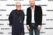 (EXCLUSIVE COVERAGE) Halla Tomasdottir and Sir Richard Branson visit the SiriusXM Studios on January 15, 2020 in New York City.