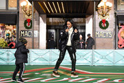 Kelly Rowland rehearses In preparation for the 93rd annual Macy's Thanksgiving Day Parade? at Macy's Herald Square on November 25, 2019 in New York City.