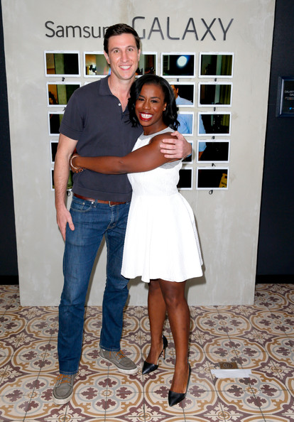 Actors Pablo Schreiber (L) and Uzo Aduba attend the Variety Studio powered by Samsung Galaxy on May 28, 2014 in West Hollywood, California.