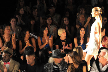 Ashlee Simpson Katie Cassidy Celebs at the Max Azria Show for Fashion Week NYC