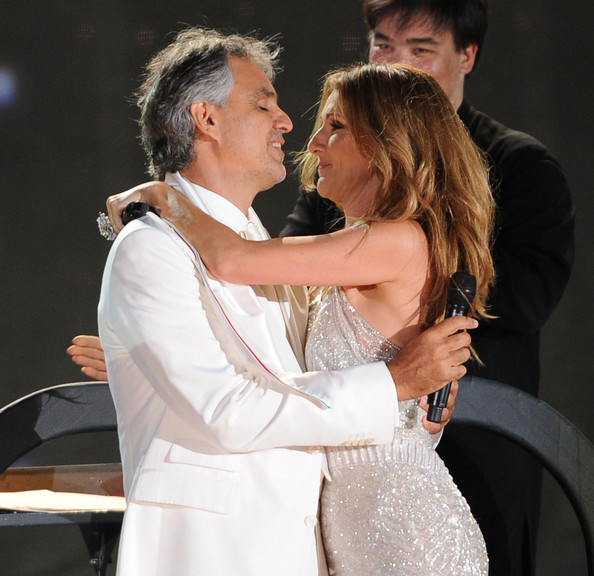 Show in this photo celine dion andrea bocelli singers andrea bocelli