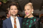 Adam Scott (L) and Busy Philipps attend The Center for Reproductive Rights Inaugural Los Angeles Benefit at The London West Hollywood on March 6, 2019 in West Hollywood, California.