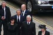 Former British Prime Ministers Tony Blair and John Major with their wives Norma Major and Cherie Blair attend the Ceremonial funeral of former British Prime Minister Baroness Thatcher at St Paul's Cathedral on April 17, 2013 in London, England. Dignitaries from around the world today join Queen Elizabeth II and Prince Philip, Duke of Edinburgh as the United Kingdom pays tribute to former Prime Minister Baroness Thatcher during a Ceremonial funeral with military honours at St Paul's Cathedral. Lady Thatcher, who died last week, was the first British female Prime Minister and served from 1979 to 1990.
