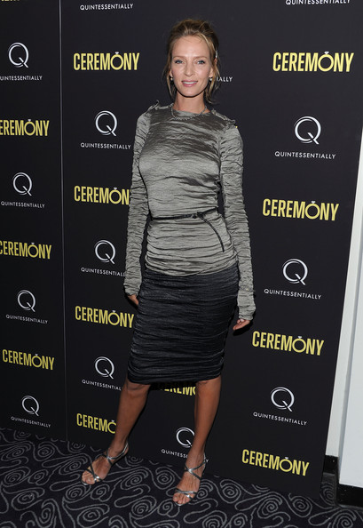 "Actress Uma Thurman attends the ""Ceremony"" New York Screening at Angelika Film Center on April 5, 2011 in New York City."