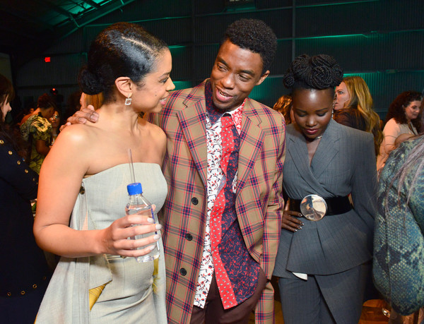 Chadwick Boseman Lupita Nyong O Susan Kelechi Watson Chadwick Boseman And Lupita Nyong O Photos Fiji Water At The Hollywood Reporter S 27th Annual Women In Entertainment Breakfast Zimbio