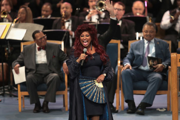 Chaka Khan Soul Music Icon Aretha Franklin Honored During Her Funeral By Musicians And Dignitaries