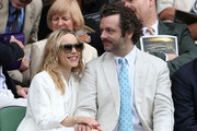 Rachel McAdams and Michael Sheen look on from the Royal Box on Centre Court ahead of the Ladies? Singles final match between Serena Williams of the USA and Agnieszka Radwanska of Polandon day twelve of the Wimbledon Lawn Tennis Championships at the All England Lawn Tennis and Croquet Club on July 7, 2012 in London, England.