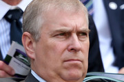 Prince Andrew, Duke of York watches the Gentlemen's Singles semi-final match between Novak Djokovic of Serbia and Juan Martin Del Potro of Argentina on day eleven of the Wimbledon Lawn Tennis Championships at the All England Lawn Tennis and Croquet Club on July 5, 2013 in London, England.
