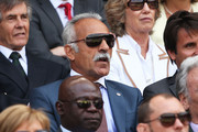 Mansour Bahrami watches the Gentlemen's Singles semi-final match between Novak Djokovic of Serbia and Juan Martin Del Potro of Argentina on day eleven of the Wimbledon Lawn Tennis Championships at the All England Lawn Tennis and Croquet Club on July 5, 2013 in London, England.