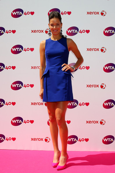 Ana Ivanovic arrives for the WTA 40 Love Celebration during Middle Sunday of the Wimbledon Lawn Tennis Championships at the All England Lawn Tennis and Croquet Club on June 30, 2013 in London, England.