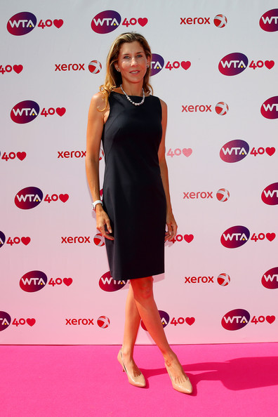 Monica Seles arrives for the WTA 40 Love Celebration during Middle Sunday of the Wimbledon Lawn Tennis Championships at the All England Lawn Tennis and Croquet Club on June 30, 2013 in London, England.