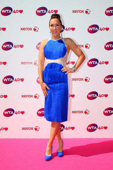 Jelena Jankovic arrives for the WTA 40 Love Celebration during Middle Sunday of the Wimbledon Lawn Tennis Championships at the All England Lawn Tennis and Croquet Club on June 30, 2013 in London, England.
