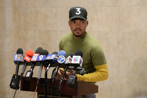 Chance The Rapper Holds Press Conference At City Hall Regarding Chicago Mayoral Election
