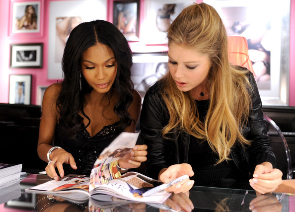 chanel iman and tyga dating. Chanel Iman and Doutzen Kroes